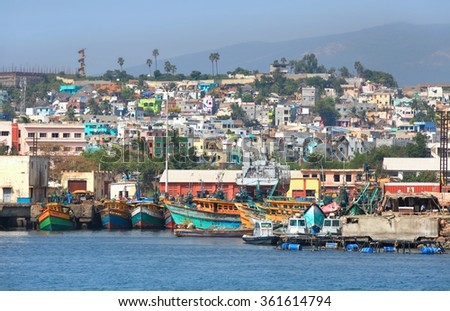 Visakhapatnam, INDIA - December 7 : Visakhapatnam's economy ranks as the tenth-largest among Indian cities, with a GDP of $26 Billion. On December 7,2015 Visakhapatnam, India - stock photo