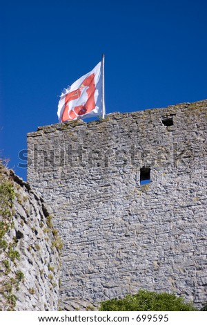 Visby medieval citywall during summer day at the island of Gotland in Sweden
