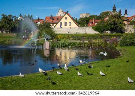 Visby, the medieval city on the Gotland island, Sweden