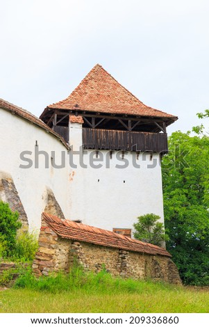 Viscri, saxon fortified church, Transylvania, Romania - stock photo