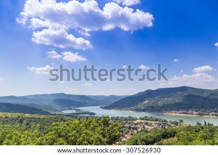 Visegrad Hungary, Danube river - stock photo