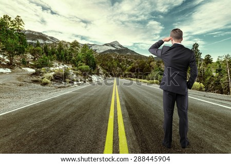 Vision, business, concept. - stock photo