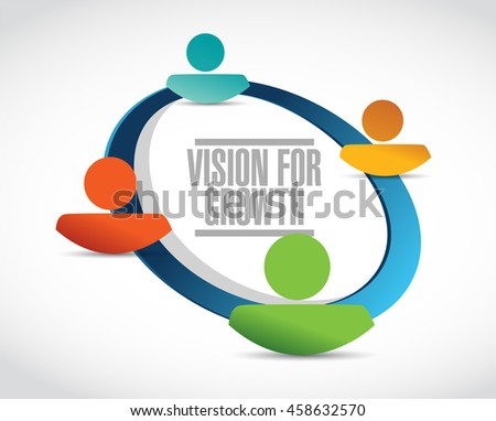 vision for growth close network sign business concept illustration design graphic - stock photo
