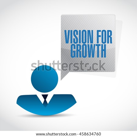 vision for growth sign business concept illustration design graphic - stock photo
