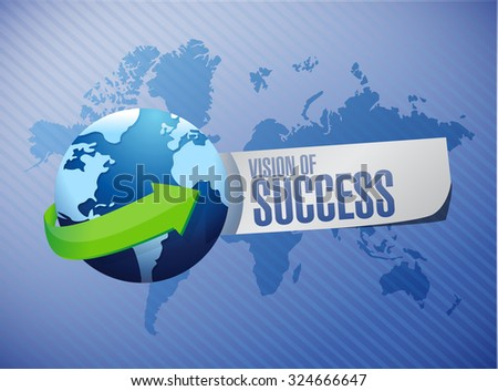 vision of success international sign concept illustration design graphic