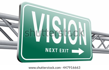 vision or our policy in business strategy or view on the company about us, 3D illustration on white background