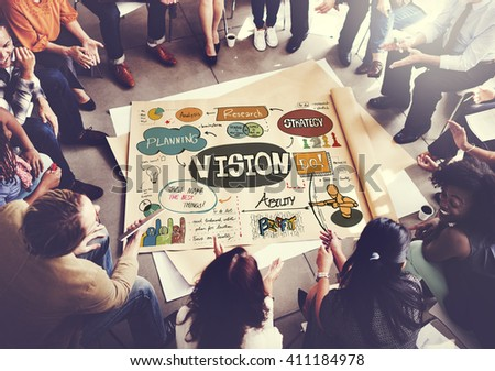 Vision Strategy Research Design Innovation Ideas Concept - stock photo