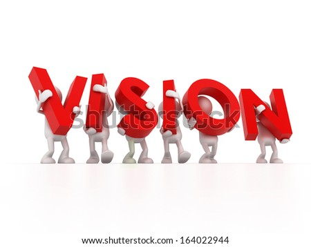 Vision Team - stock photo