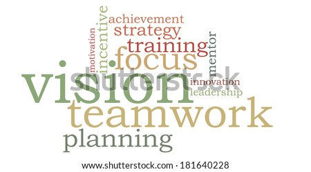 Vision teamwork word cloud