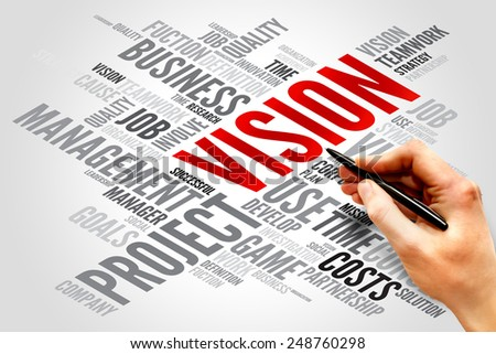 VISION word cloud, business concept - stock photo