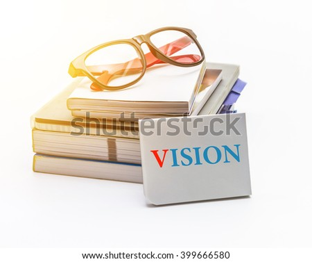 Vision words  with business concept and design.