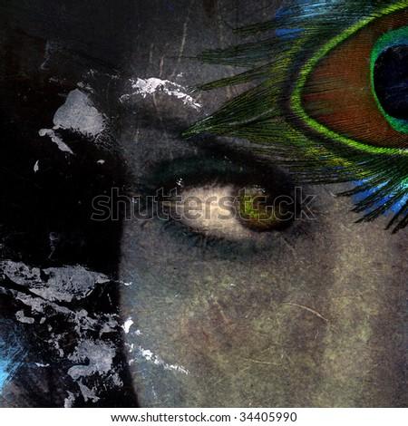 Visionary goddess eye - stock photo