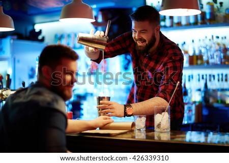 Visiting bar - stock photo