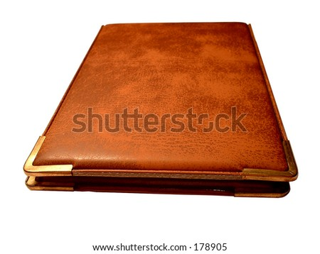 Visiting-card case, leather. Isolated - stock photo