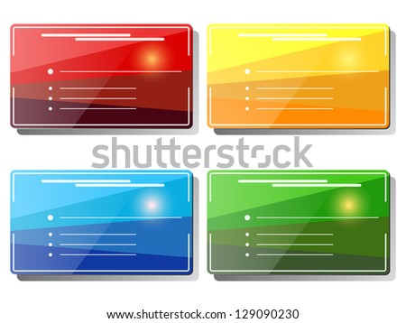 Visiting cards set. Raster version of vector illustration.