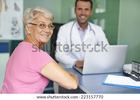 Visiting in the doctor become pleasure for me  - stock photo