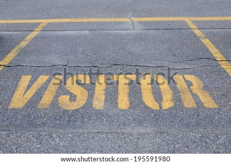 Visitor parking - stock photo