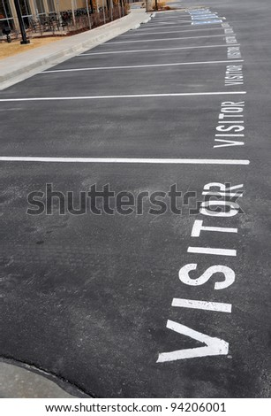 Visitor Parking at Office Park - stock photo