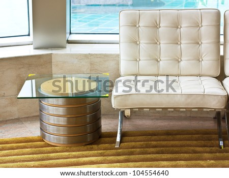 Visitor's chair in office - stock photo
