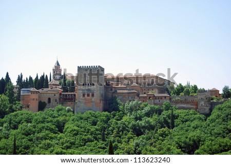 Vista general de la Alhambra. Granada - stock photo