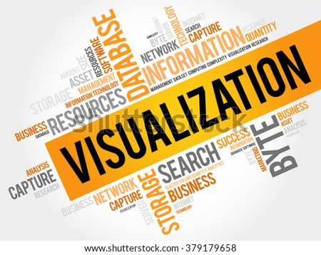 Visualization word cloud, business concept - stock photo