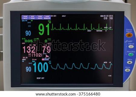 Vital signs monitor  - stock photo