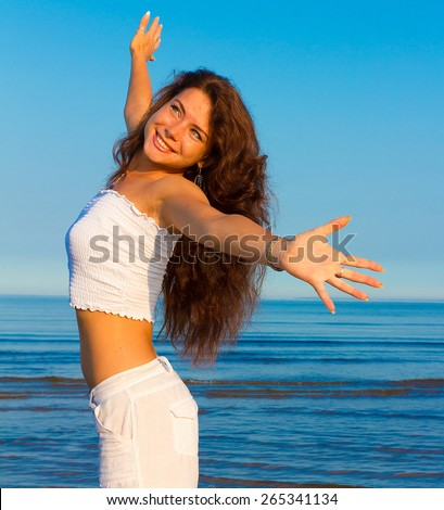 Vitality Portrait Outdoor  - stock photo