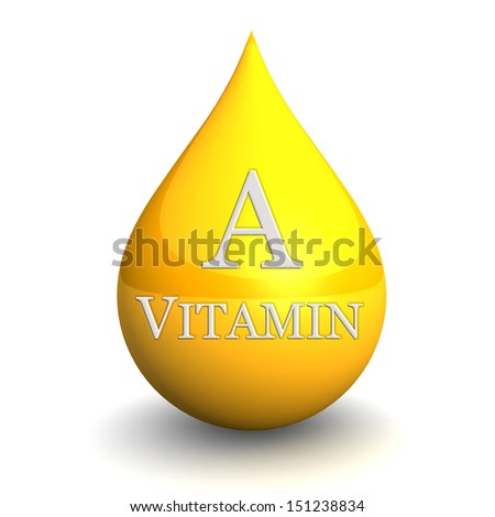 Vitamin A, Isolated On White Background. 3d illustration