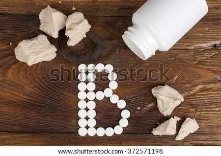 vitamin B - stock photo