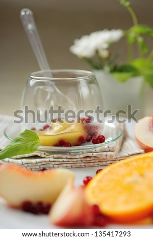 Vitamin beery tea with fruits