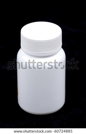Vitamin bottle - stock photo