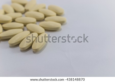 Vitamin c as a supplement for the body - stock photo