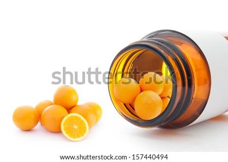 Vitamin C concept  - stock photo