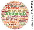 Vitamin D info-text graphics and arrangement concept on white background (word cloud) - stock photo