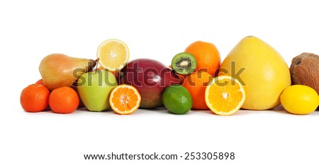 Vitamin fruits - stock photo