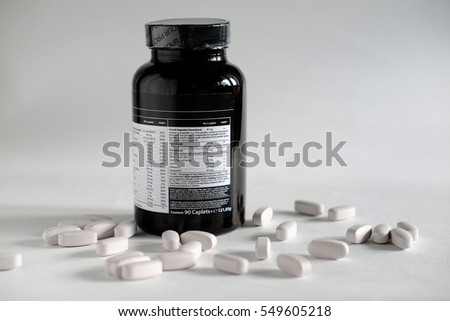 Vitamin pills and fish oil sport nutrition