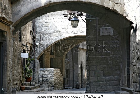 Viterbo (Lazio, Italy), the medieval quarter of San Pellegrino 2