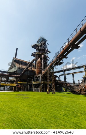 Vitkovice Ostrava old industrial - stock photo