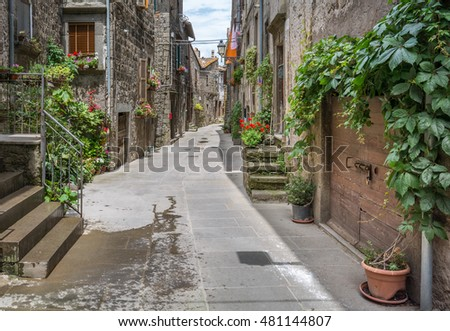 Vitorchiano, medieval rural village in Viterbo Province, Lazio (Italy), June-11-2016
