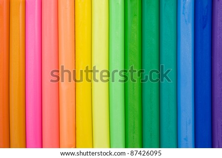 vivid background made from colorful clay sticks