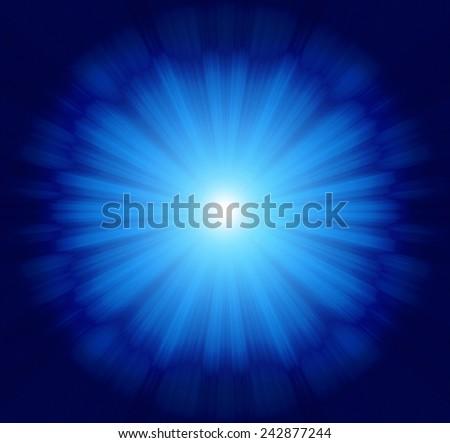 Vivid blue sparking Design background of black-white luminous rays,moving around when looking it'amazing look like eye - stock photo