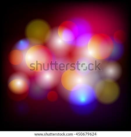 vivid bokeh light blur background - stock photo