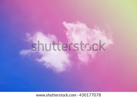 Vivid clouds in the sky. - stock photo