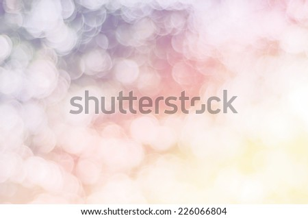 vivid color bokeh in soft style for background.