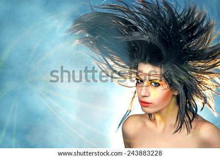 Vivid Hair - stock photo