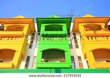 Vivid Houses. - stock photo