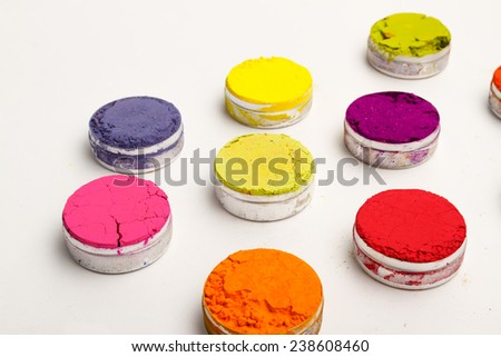 Vivid Indian Holi festival colours - stock photo