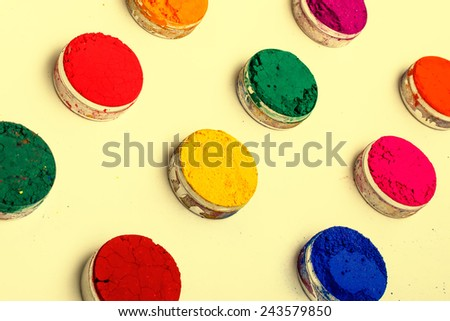 Vivid Indian Holi festival colours - stock photo