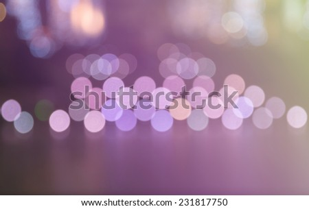 vivid purple bokeh in soft color style for background  of Christmas light - stock photo