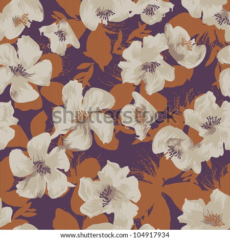 Vivid repeating floral - For easy making seamless pattern use it for filling any contours - stock photo